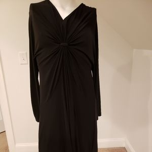 Lane Bryant black dress with design on front chest
